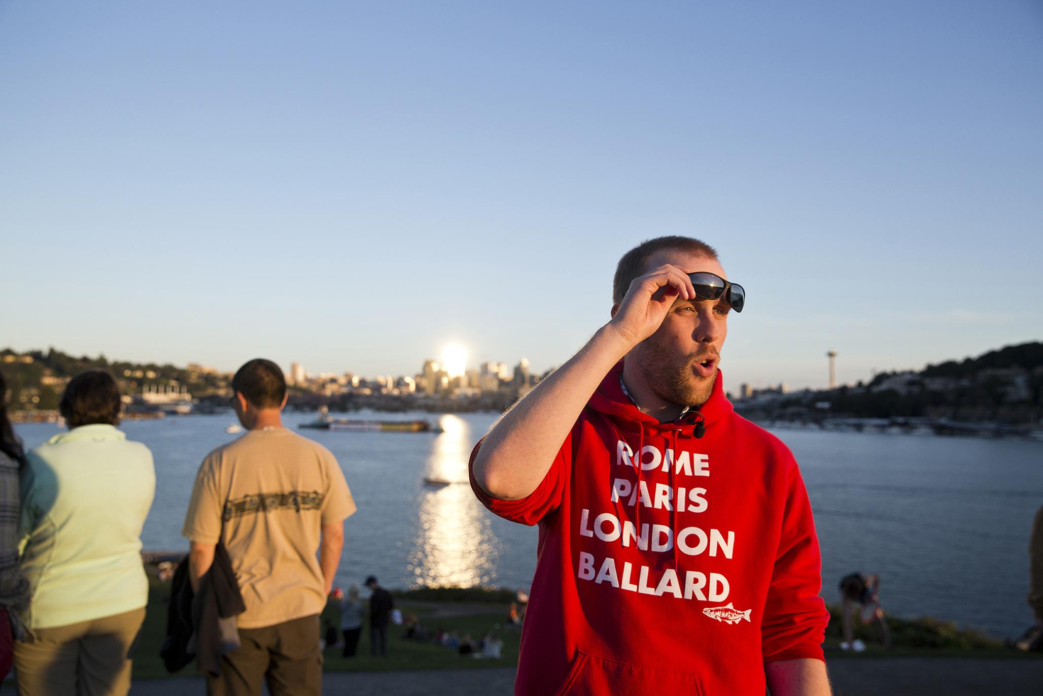AMBASSADØR: Lars er ein stolt ambassadør av norskamerikansk kultur og Ballard, Seattle sin norske bydel.